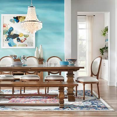 Bold and Bright Dining Room