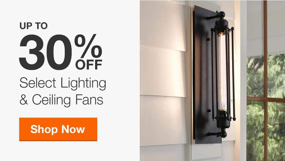 Up to 30% Off Select Lighting & Ceiling Fans