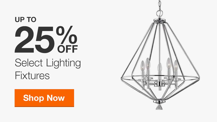Up to 25% Off Select Lighting