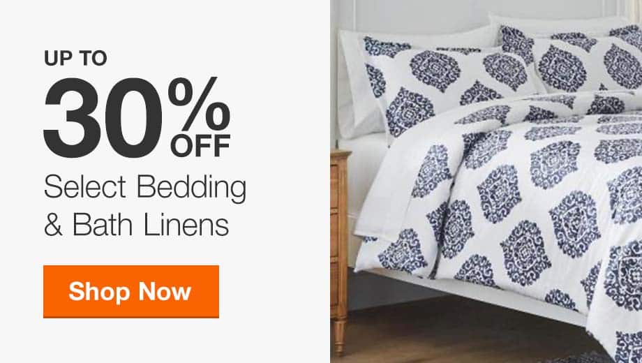 Up to 30% Off Select Bedding & Bath Linens