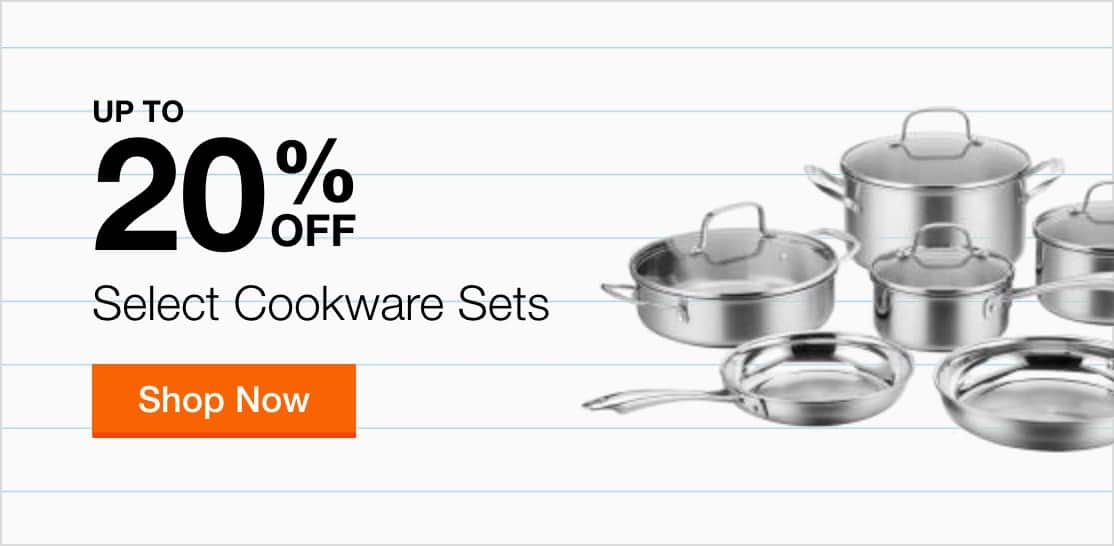 Up to 20% Off Select Cookware Sets