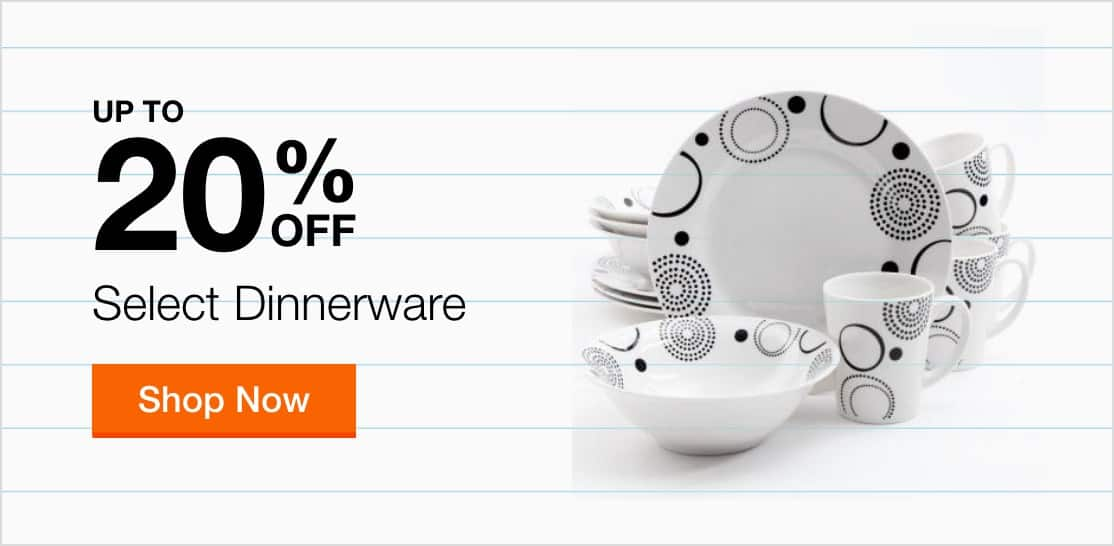 Up to 20% Off Select Dinnerware