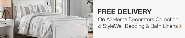 Free Delivery On All Stylewell and Home Decorators Collection Bedding & Bath Linens