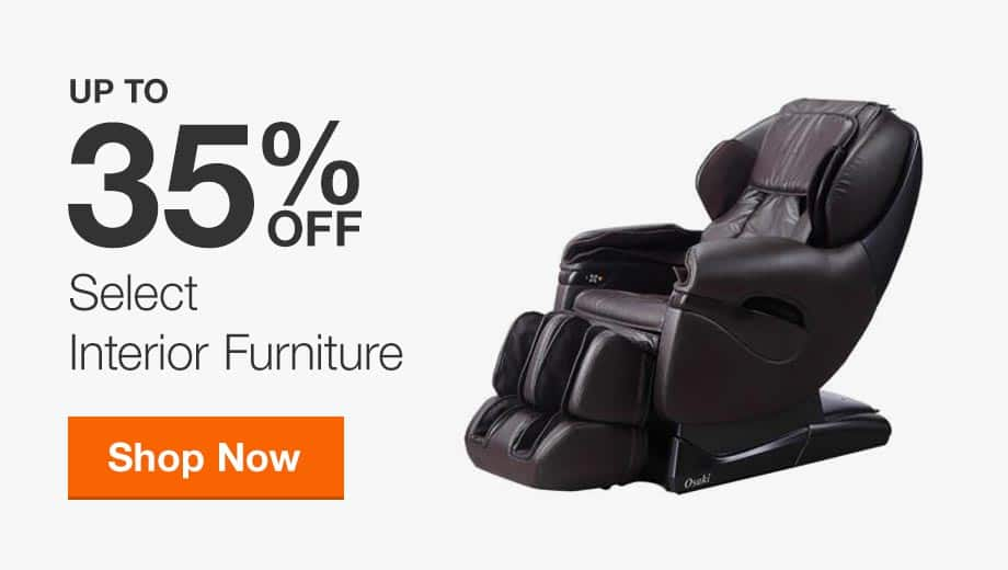 Up to 35% Off Select Interior Furniture
