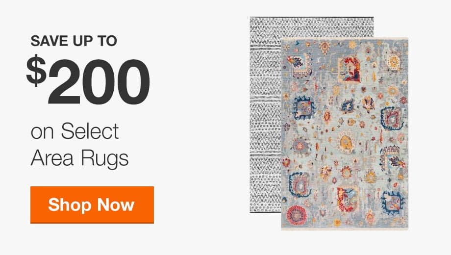 Save up to $200 on Select Area Rugs