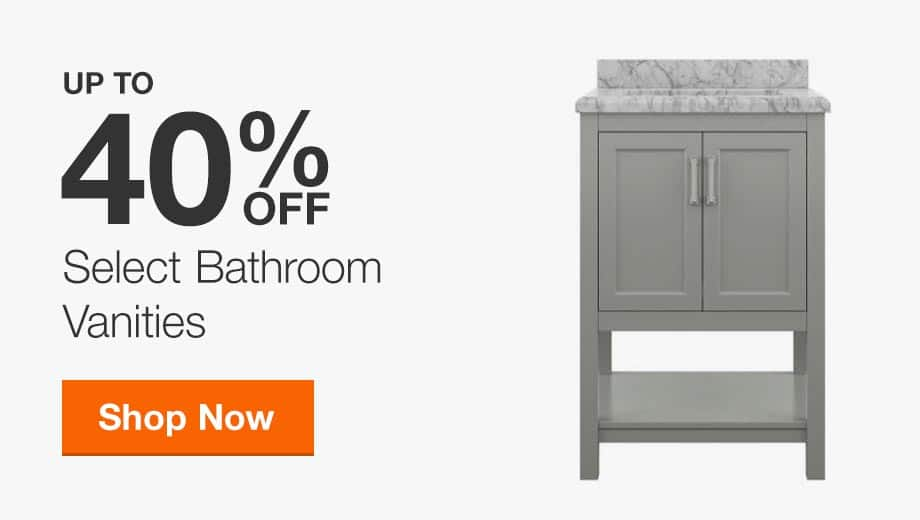Up to 40% off Select Bathroom Vanities