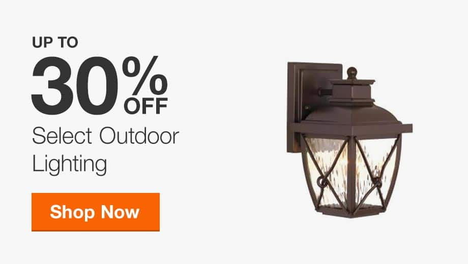 Up to 30% off Select Outdoor Lighting
