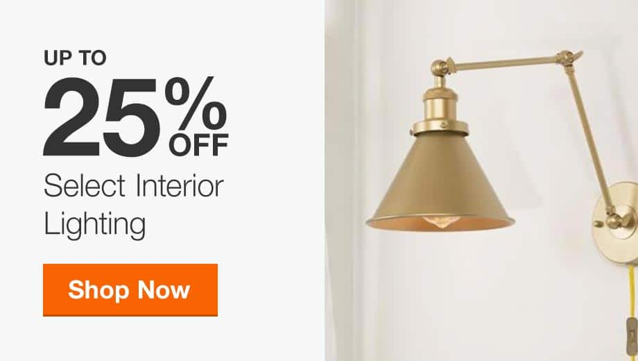 Up to 25% off Select Interior Lighting