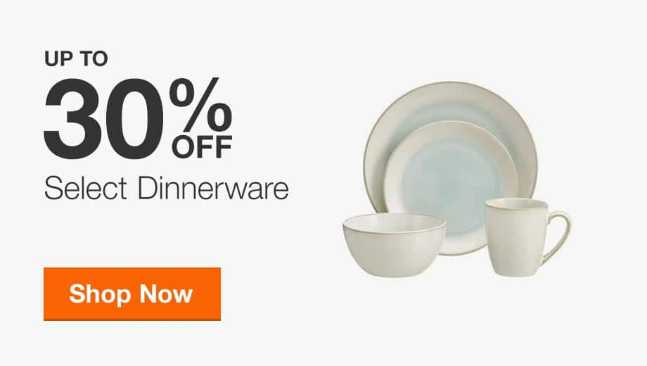 Up to 30% Off Select Dinnerware