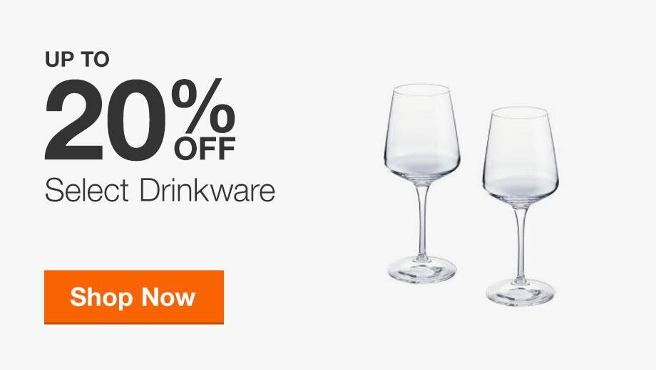Up to 20% Off Select Drinkware