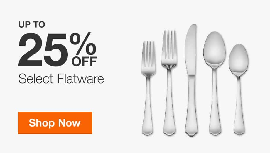 Up to 25% Off Select Flatware