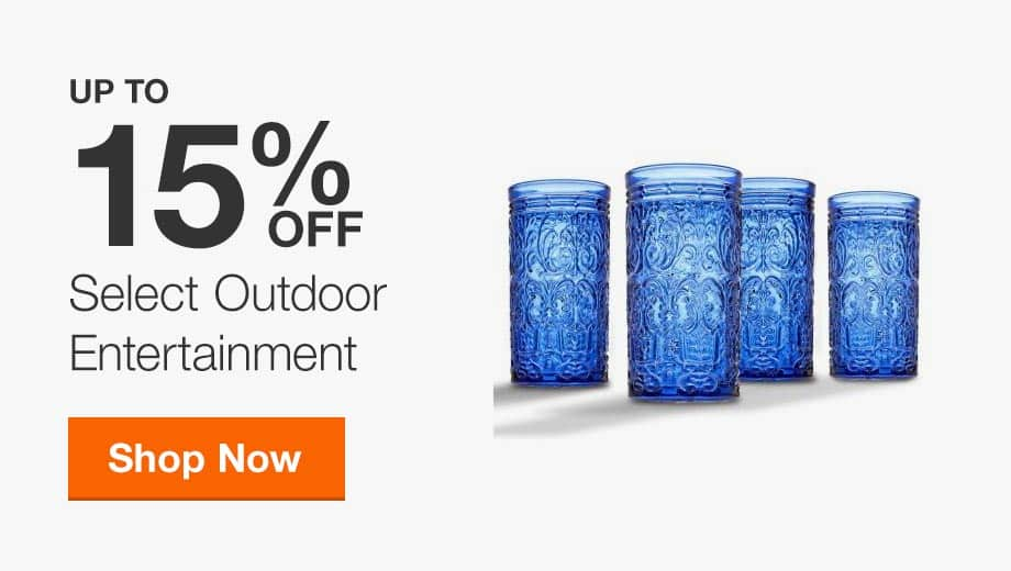 Up to 15% Off Select Outdoor Entertainment