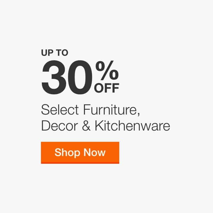 Up to 30% Off Select Furniture, Decor & Kitchenware