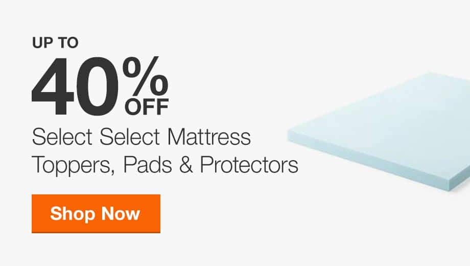 Up to 40% Off Select Mattress Toppers, Pads & Protectors
