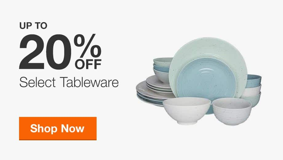 Up to 20% Off Select Tableware