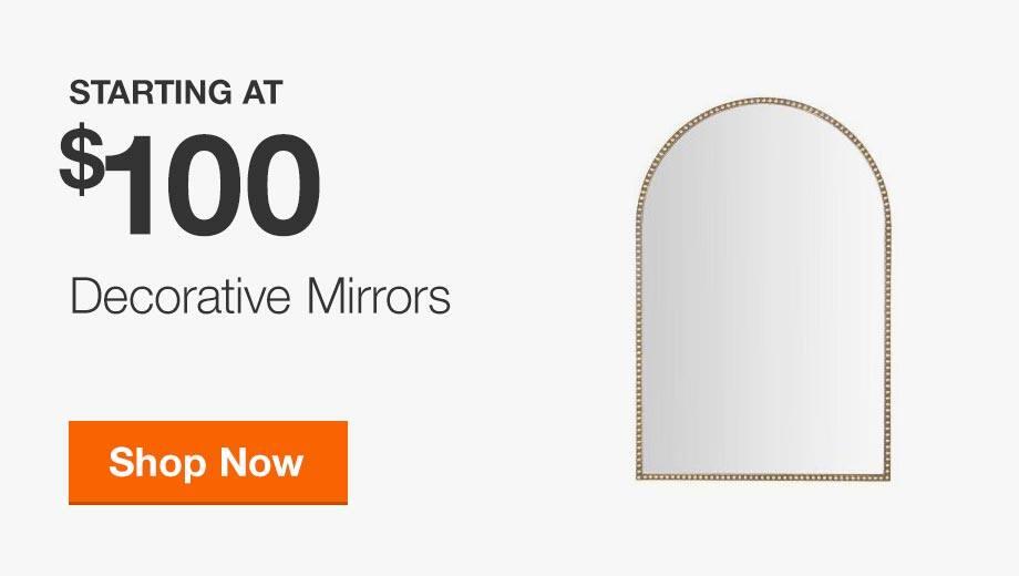 Decorative Mirrors Starting at $100