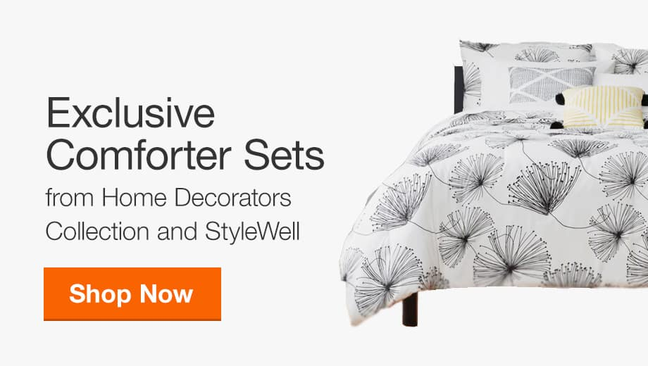 Shop Exclusive Comforter Sets from Home Decorators Collection and StyleWell