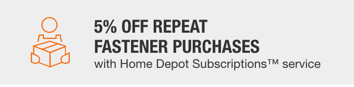5% Off Repeat Fastener Purchases