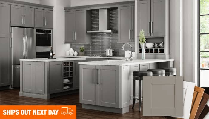 Exclusive Hampton Bay Assembled cabinets