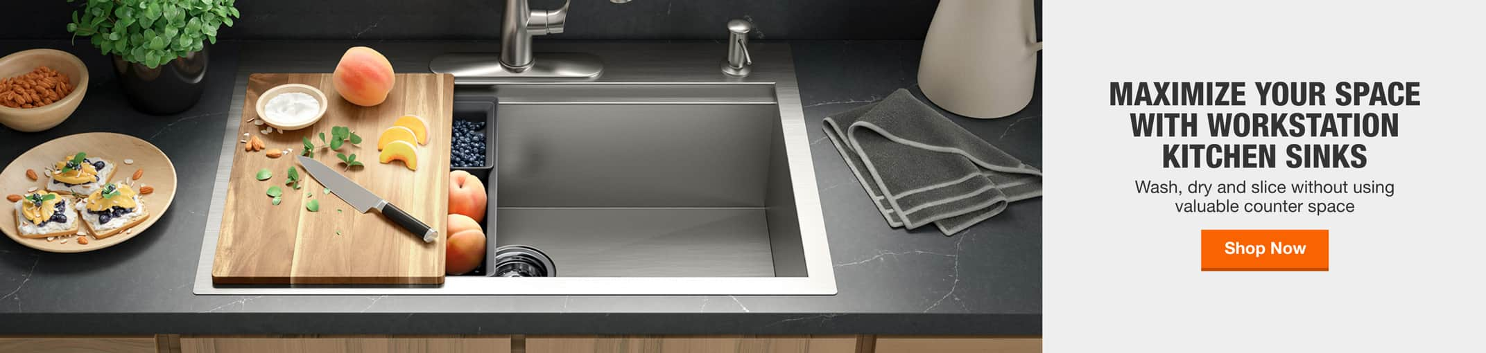 Maximize Your Space With Workstation Kitchen Sinks