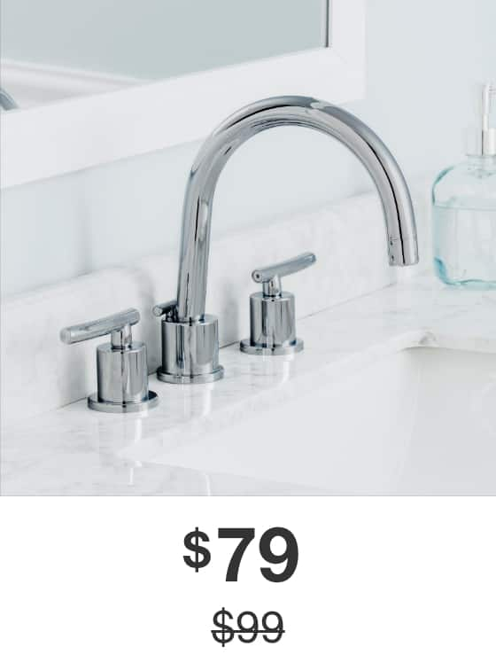 Dorset 8 in. Widespread Bathroom Faucet in Chrome Finish
