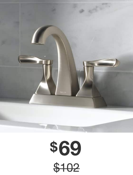 Everly 4 in. Centerset Bathroom Faucet in Brushed-Nickel Finish