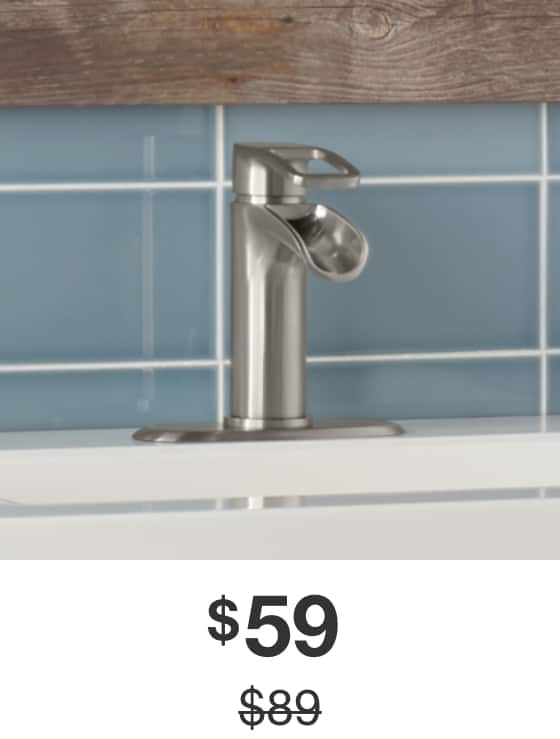Kiso Bathroom Faucet in Brushed-Nickel Finish