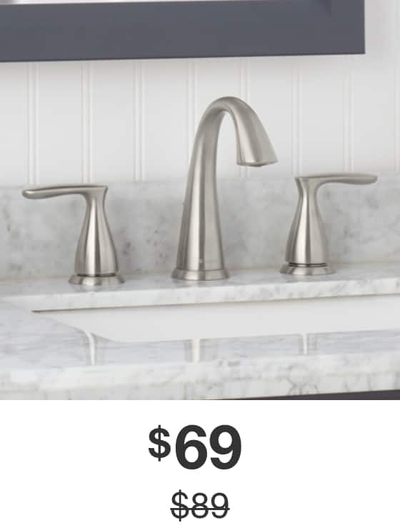 Meansville 8 in. Widespread Bathroom Faucet in Brushed-Nickel Finish
