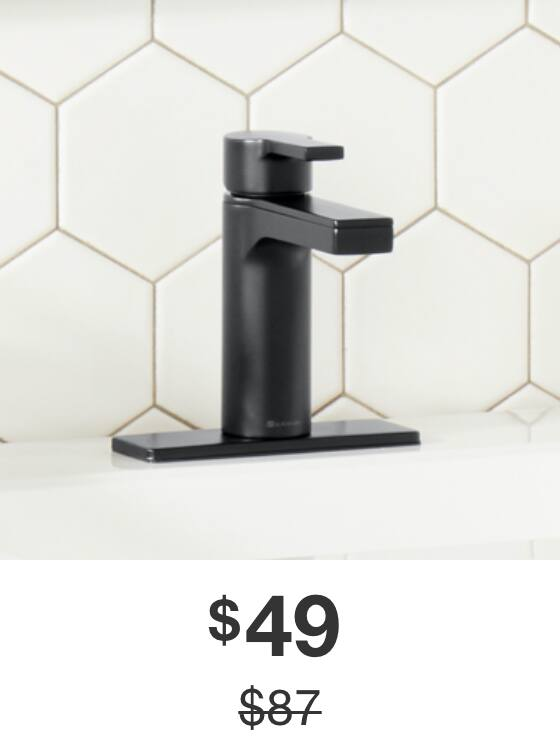 Modern Contemporary Bathroom Faucet in Matte Black Finish