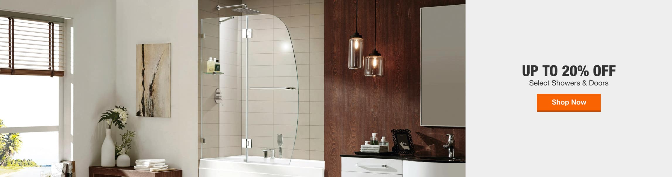 UP TO 20% OFF Select Showers & Doors