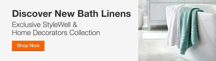 DISCOVER NEW BATHROOM FINDS With Exclusive StyleWell & Home Decorators Collection Bath Linens