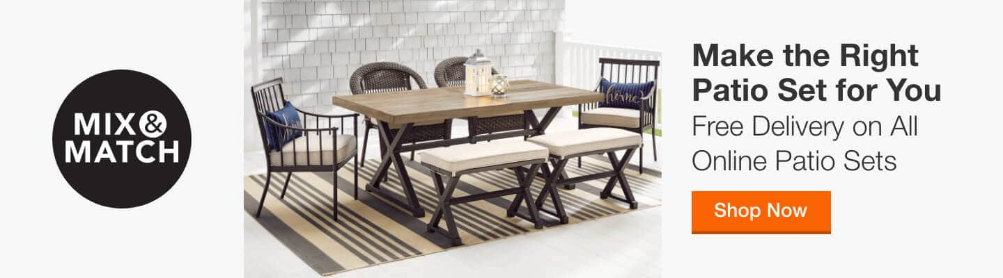 Make the Right Patio Set for You - Free Delivery on All Online Patio Sets. Shop Now