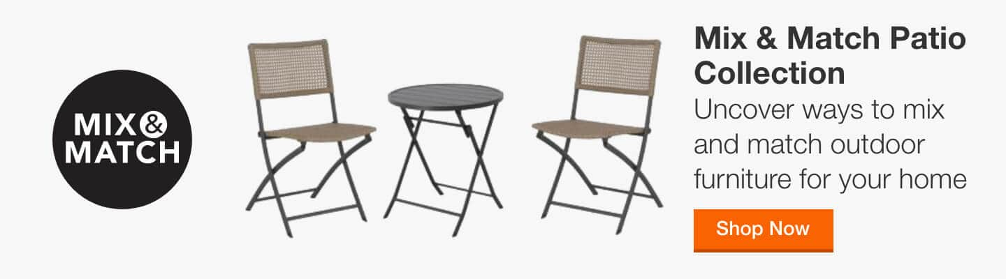 Mix & Match Patio Collection - This season, uncover ways to mix and match outdoor furniture for a patio set perfect for your home and made to last all Summer long