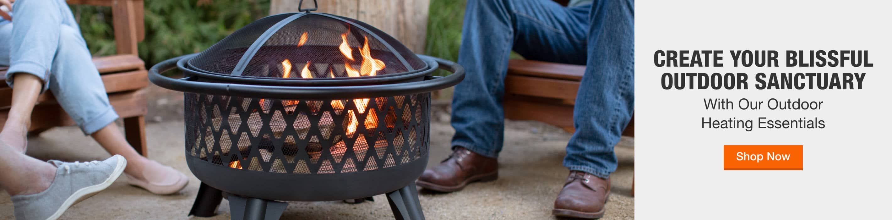 CREATE YOUR BLISSFUL OUTDOOR SANCTUARY With Our Outdoor Heating Essentials. Shop Now