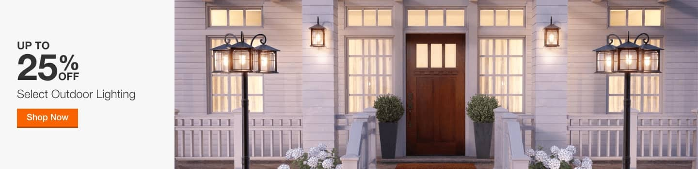 up to 25% off select outdoor lighting. shop now.