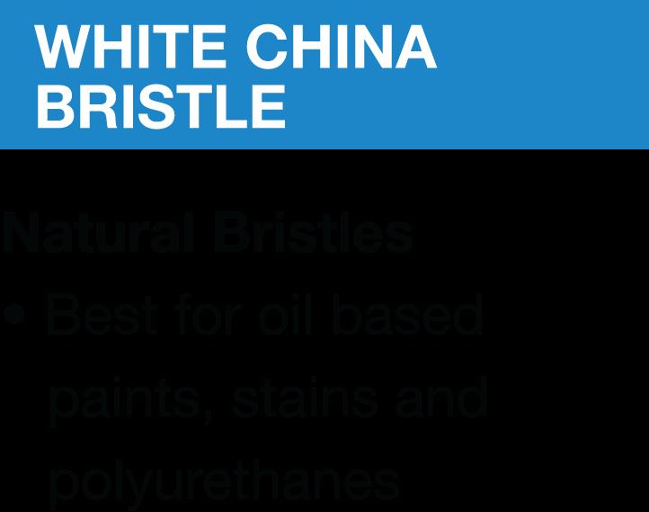 White china bristle