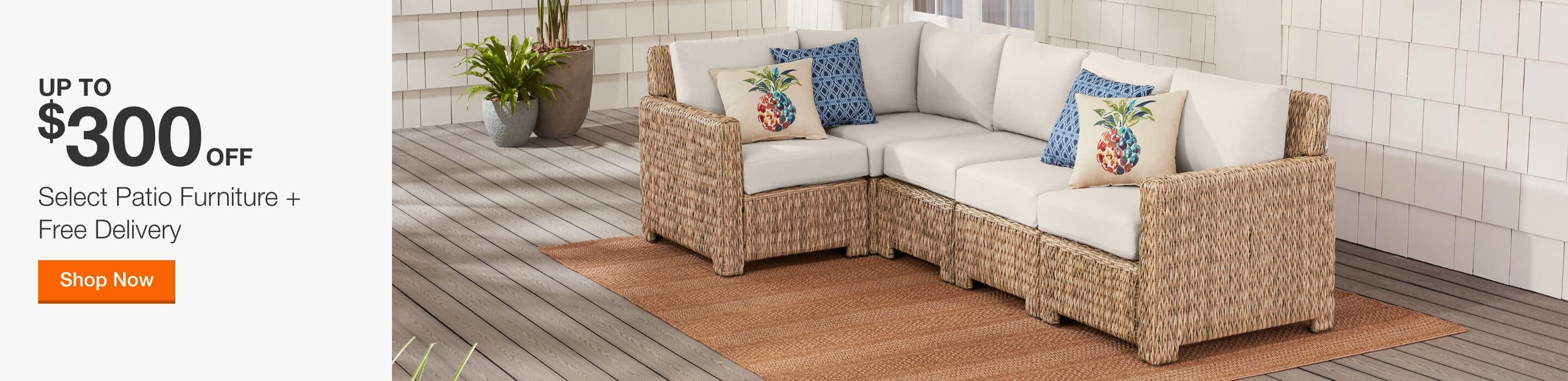 UP TO $300 OFF - Select Patio Furniture + Free Delivery. Shop Now