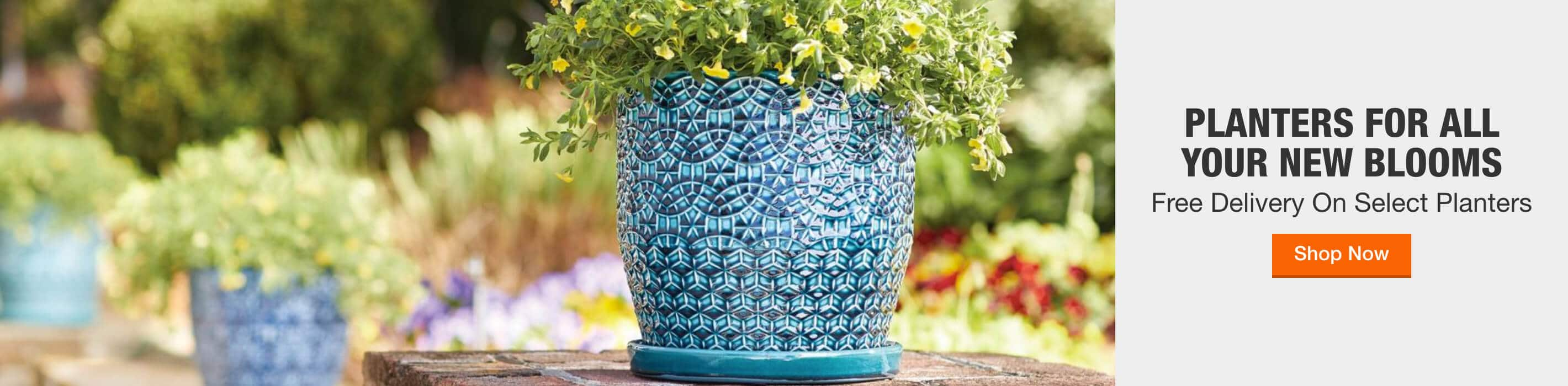PLANTERS FOR ALL YOUR NEW BLOOMS + Free Delivery On Select Planters Shop Now