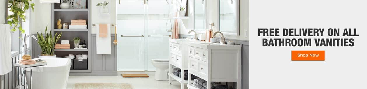 Free delivery on all bathroom vanities