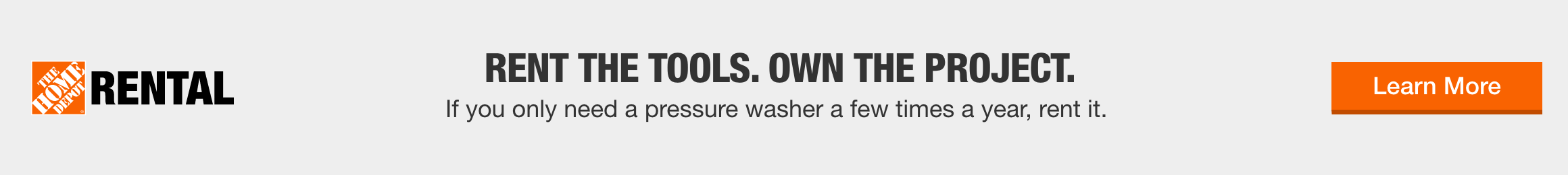 Rent the Tools. Own the Project.