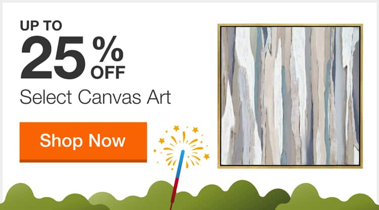 Up to 25% off Select Canvas Art