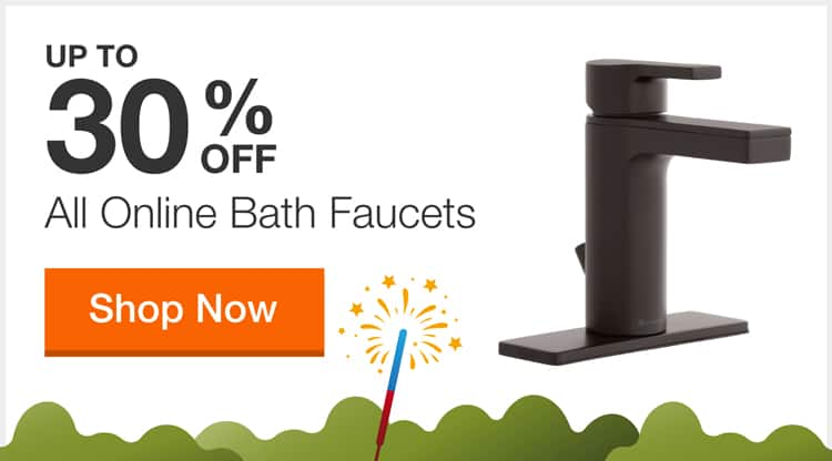 Up to 30% off Select Bathroom Faucets