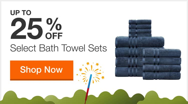 Up to 25% off Select Bathroom Towel Sets