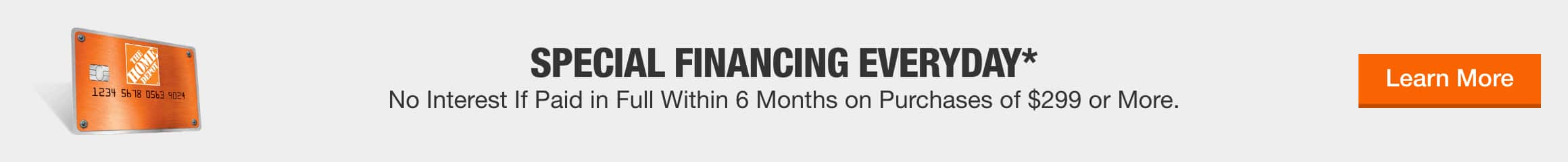 Special Financing Everyday*