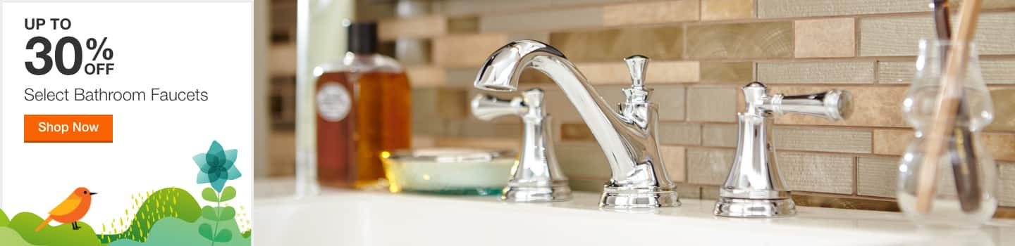 Up To 30% Off Select Bathroom Sink Faucets
