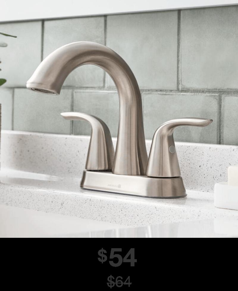 Irena 4 in. Centerset Bathroom Faucet in Brushed-Nickel Finish