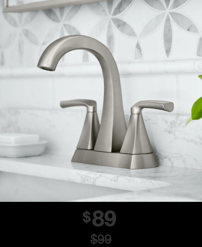 Pierce 4 in. Centerset Bathroom Faucet in Brushed-Nickel Finish