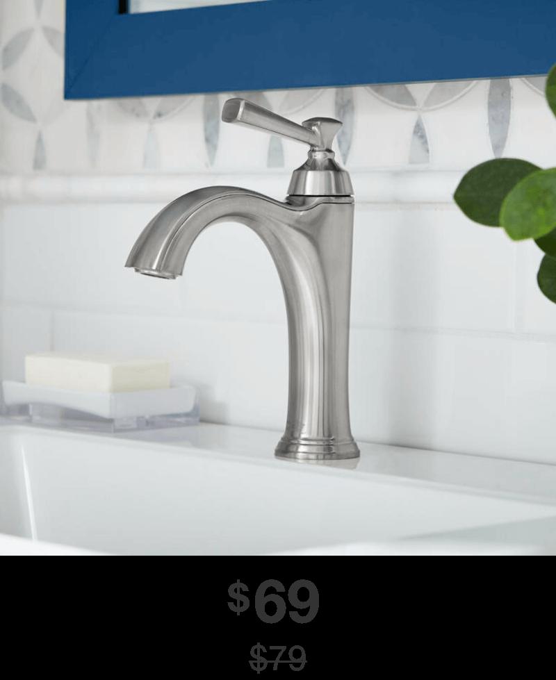 Rumson Bathroom Faucet in Brushed-NickelFinish