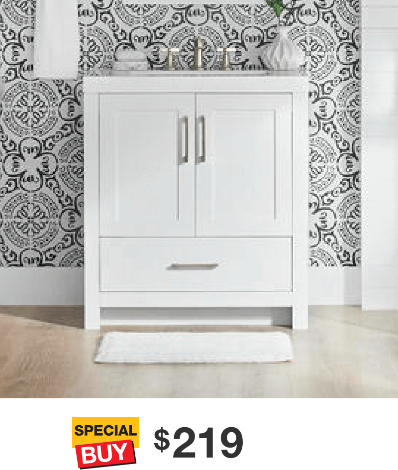 Lilliard 30.5 in White Vanity with Cultured Marble Top