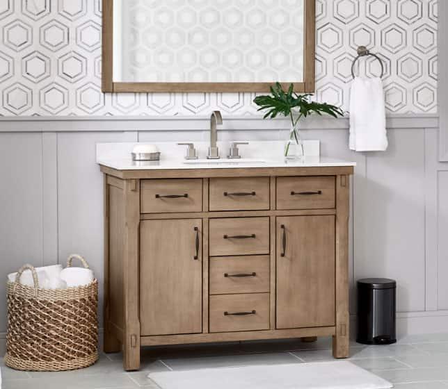 Bellington Wood Finish Bathroom